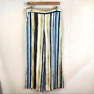 Zara Striped Silky Palazzo Wide Leg Pants